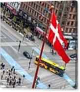 Copenhagen Downtown Traffic Canvas Print