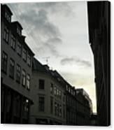 Copenhagen Facades In Shades Of Grey Canvas Print
