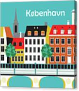 Copenhagen Kobenhavn Denmark Horizontal Scene Canvas Print