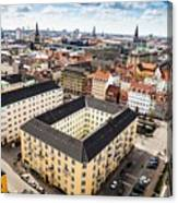 Copenhagen Skyline And Towers Canvas Print