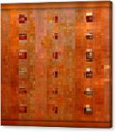 Copper Abstract Canvas Print