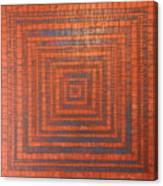 Copper And Cerulean Crack Canvas Print