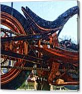 Copper Bike Ny Centennial Statue Of Liberty Ny Canvas Print