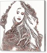 Copper Blonde Canvas Print
