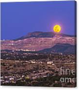 Copper Moon Rising Over The Santa Rita Canvas Print