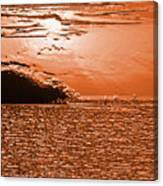 Copper Plate Sunrise Canvas Print