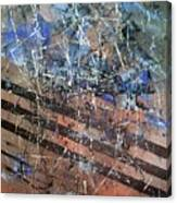 Copper To Blue Abstract Canvas Print