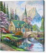 copy of Dogwood Chapel Canvas Print