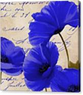 Coquelicots Bleue Canvas Print