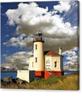 Coquile Light, Oregon Canvas Print