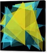 Coral Reef Polygon Pattern Canvas Print