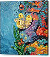 Coral With Cucumber Canvas Print