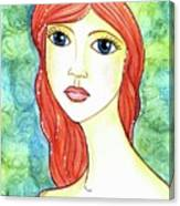 Coralia, The Mermaid Canvas Print