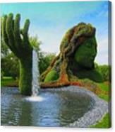 Corey Rockafeler - Mother Nature Fountain Canvas Print