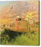 Corfu 25 High And Dry Canvas Print