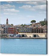 Corfu Town Port With Warehouses Canvas Print