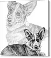 Corgi Dog Art Print Canvas Print