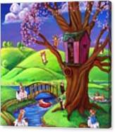 Corgis Bodacious Spring Fling Canvas Print