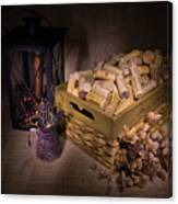 Cork And Basket And Lamp Canvas Print