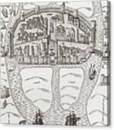 Cork, County Cork, Ireland In 1633 Canvas Print