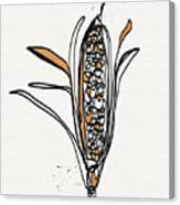 corn- contemporary art by Linda Woods Canvas Print