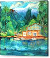 Cornell Boathouse Canvas Print
