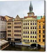 Corner Buildings In Prague Canvas Print