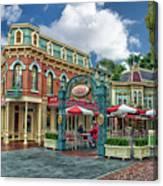 Corner Cafe Main Street Disneyland 01 Canvas Print