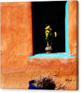 Corner In Santa Fe Nm Canvas Print