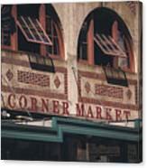 Corner Market Pikes Place Market Canvas Print