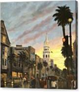 Corner Of Church And Broad Canvas Print