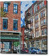 Corner Of Dietz And Main Oneonta Ny Canvas Print