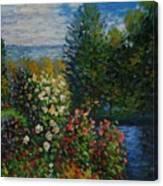 Corner Of The Garden At Montgeron Canvas Print