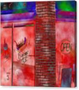Corner Shop Canvas Print