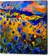 Cornflowers 746 Canvas Print