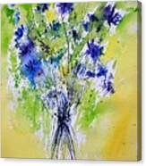 Cornflowers Canvas Print