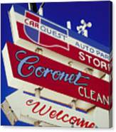 Coronet Cleaners Canvas Print