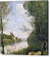 Corot: Cathedral, C1855-60 Canvas Print