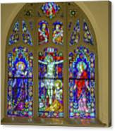 Corr Hall Stain Glass Canvas Print