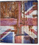 Corrugated Iron United Kingdom Flag Canvas Print