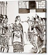 Cortes & Montezuma, 1519 Canvas Print