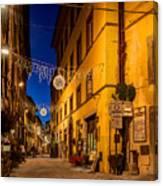 Cortona Via Nazionale Canvas Print