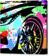Corvette Pop Art 3 Canvas Print