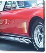 Corvette Soft Top Canvas Print