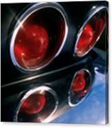 Corvette Tail Lights Canvas Print