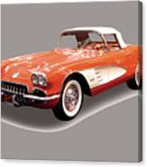 Corvette Tshirt Canvas Print