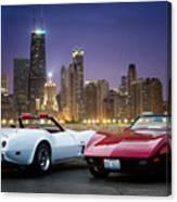 Corvettes In Chicago Canvas Print