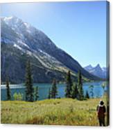 Cosley Ridge Over Cosley Lake - Glacier National Park Canvas Print
