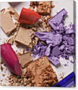 Cosmetics Mess Canvas Print