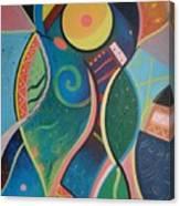 Cosmic Carnival V Aka The Dance Canvas Print